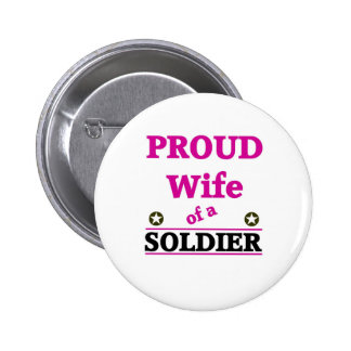 Proud soldiers Wife Button