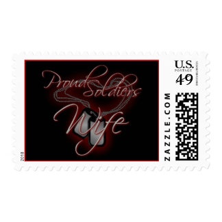 """Proud Soldiers Wife"" Postage"