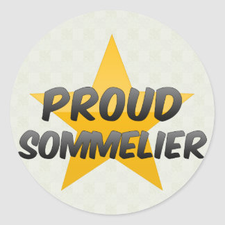 Proud Sommelier Round Stickers