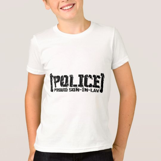 Proud Son-in-law - POLICE Tattered T-Shirt