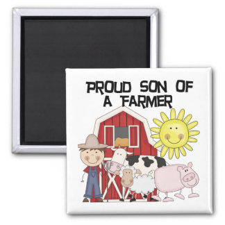 Proud Son of a Farmer Tshirts and Gifts Fridge Magnets