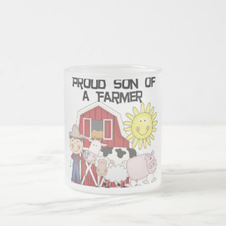 Proud Son of a Farmer Tshirts and Gifts 10 Oz Frosted Glass Coffee Mug