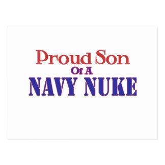 Proud Son of a Navy Nuke Postcard