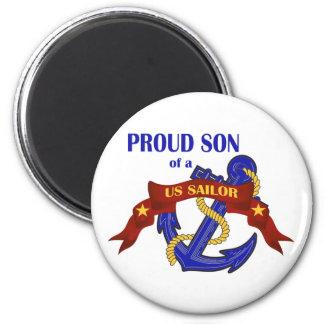 Proud Son of a US Sailor Magnet