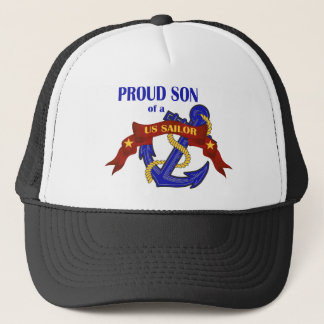 Proud Son of a US Sailor Trucker Hat