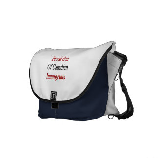 Proud Son Of Canadian Immigrants Messenger Bag