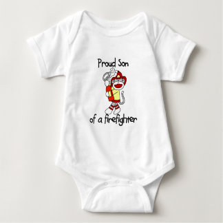 Proud Son of Firefighter Baby Bodysuit