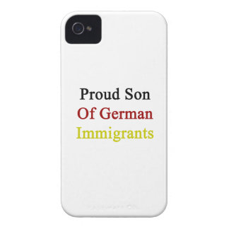 Proud Son Of German Immigrants iPhone 4 Cover