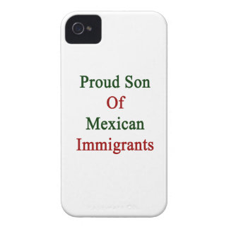 Proud Son Of Mexican Immigrants iPhone 4 Case-Mate Case