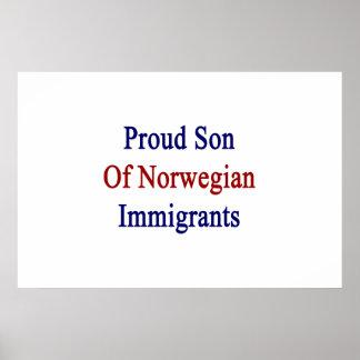 Proud Son Of Norwegian Immigrants Poster