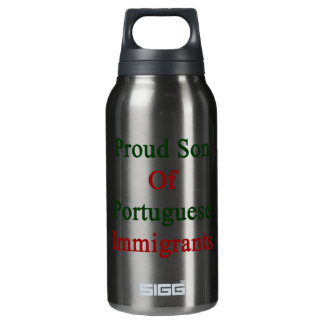 Proud Son Of Portuguese Immigrants Insulated Water Bottle