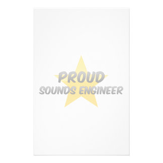 Proud Sounds Engineer Personalized Stationery