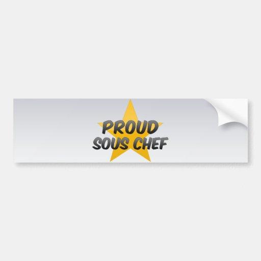 Proud Sous Chef Bumper Stickers