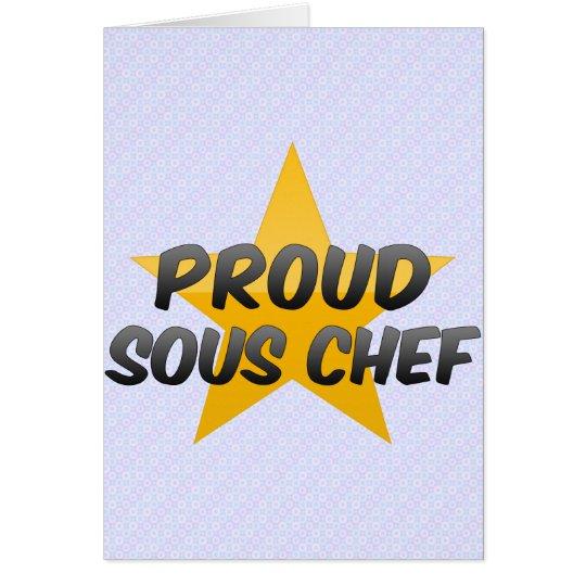 Proud Sous Chef Card