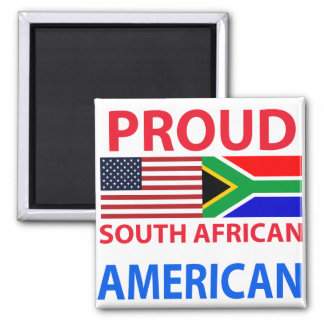 Proud South African American 2 Inch Square Magnet