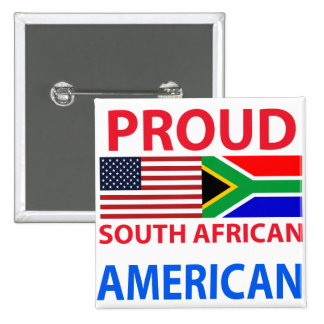Proud South African American Pinback Button