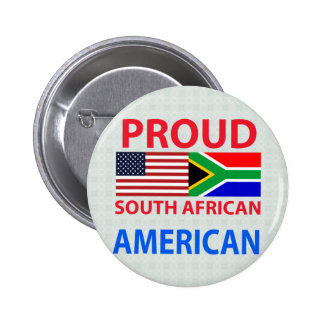 Proud South African American Button