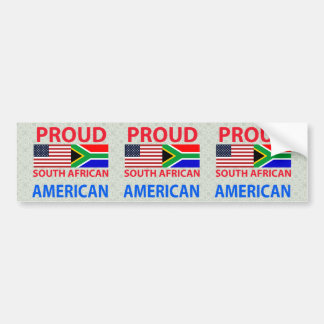 Proud South African American Car Bumper Sticker