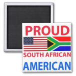 Proud South African American Fridge Magnet