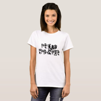 Proud Spinster black and white cool font text T-Shirt