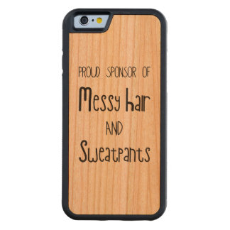 Proud Sponsor Of Messy Hair And Sweatpants Carved Cherry iPhone 6 Bumper Case