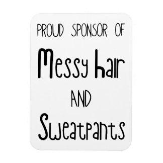 Proud Sponsor Of Messy Hair And Sweatpants Rectangular Photo Magnet