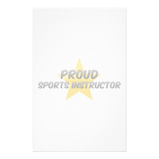 Proud Sports Instructor Stationery