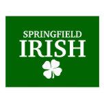 Proud SPRINGFIELD IRISH! St Patrick's Day Post Cards