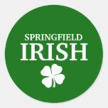 Proud SPRINGFIELD IRISH! St Patrick's Day Stickers