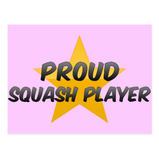Proud Squash Player Post Card
