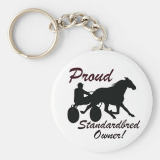 Proud Standardbred Owner Basic Round Button Keychain