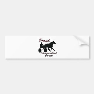 Proud Standardbred Owner Bumper Sticker