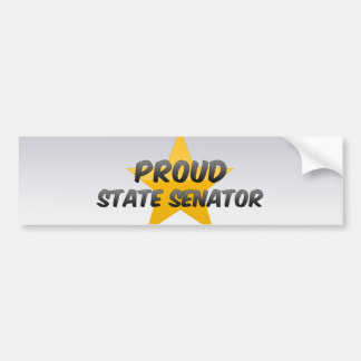 Proud State Senator Car Bumper Sticker