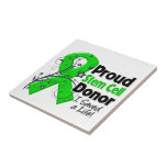 Proud Stem Cell Donor - I Saved a Life Ceramic Tile