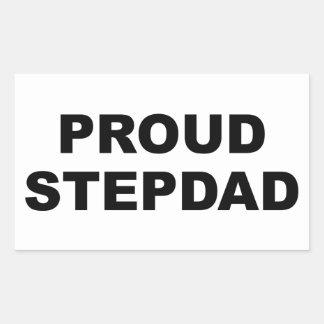 Proud Stepdad Rectangular Sticker