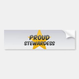 Proud Stewardess Car Bumper Sticker