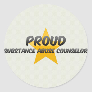 Proud Substance Abuse Counselor Round Stickers