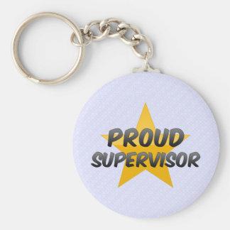 Proud Supervisor Basic Round Button Keychain