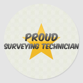 Proud Surveying Technician Classic Round Sticker