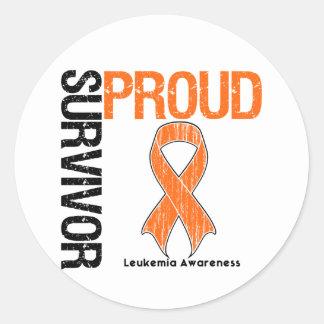 Proud Survivor - Leukemia Classic Round Sticker