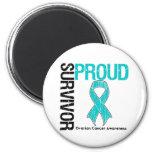 Proud Survivor - Ovarian Cancer Fridge Magnet