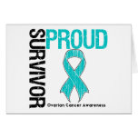 Proud Survivor - Ovarian Cancer Greeting Card