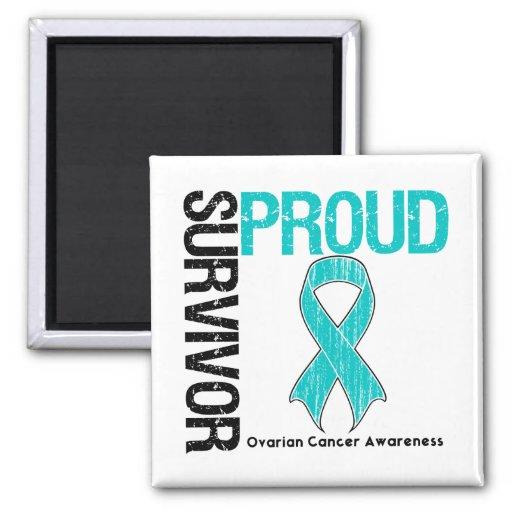 Proud Survivor - Ovarian Cancer Refrigerator Magnets