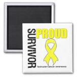 Proud Survivor - Testicular Cancer Magnets