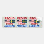 Proud Swede American Car Bumper Sticker