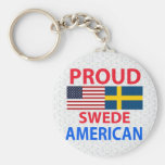 Proud Swede American Key Chains