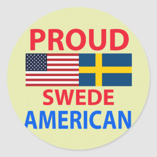 Proud Swede American Round Sticker
