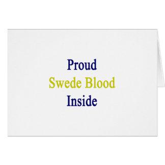 Proud Swede Blood Inside Card
