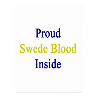 Proud Swede Blood Inside Postcard