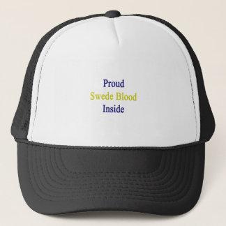 Proud Swede Blood Inside Trucker Hat